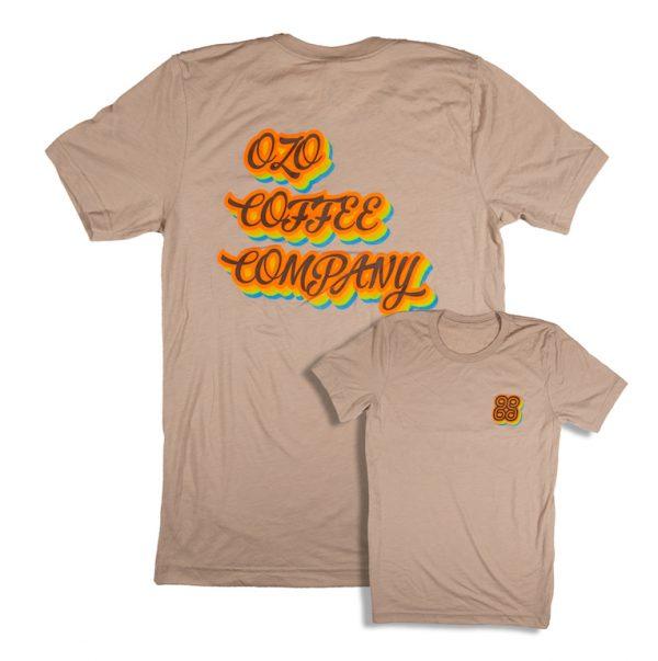 ozo coffee retro tee tan